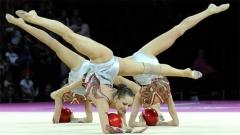 Beim Weltcupfinale der Rhythmischen Sportgymnastik in Kiew gewann das bulgarische Ensemble in der Übung mit fünf Bällen die Silbermedaille.