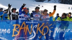 Hermann Maier,Marc Girardelli undPeter Popangelowhaben die neue Skisaison in Bansko offiziell eröffnet.