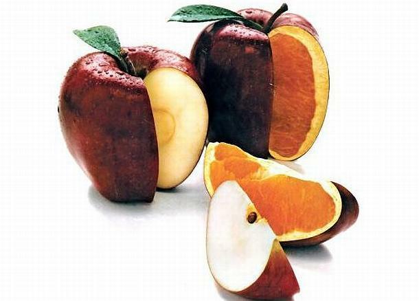 ГМО ябълка портокал