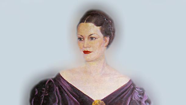 Портрет на Елисавета Багряна от Иван Табаков (фрагмент)