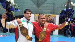 Николай Щерев (вдясно) остана без медал в Букурещ