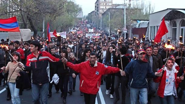 Армения Ереван протест