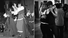 Танците таранлета (вляво) и блус.