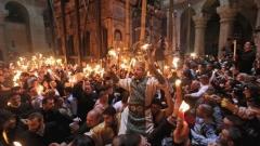 Благодатен огън Великден Йерусалим Ерусалим