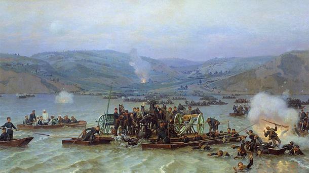 Преминаване на Дунава при Зимница, Николай Дмитриев-Оренбургски