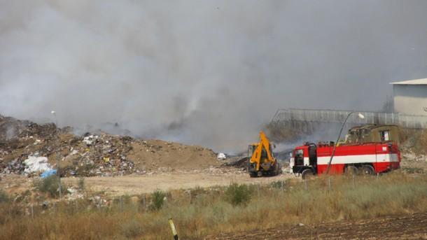 В сметището на община Кочерново е възникнал пожар вследствие на