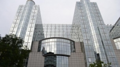 Сградата на Европейския парламент в Брюксел, където е двудневната конференция за Сирия.