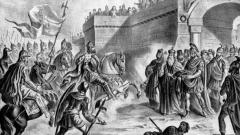 Симеон пред портите на Константинопол (графика Николай Павлович, фрагмент)