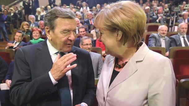 Герхард Шрьодер и Ангела Меркел