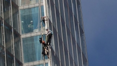 Най-високата сграда в ЕС Шард Гринпийс протест катерачи