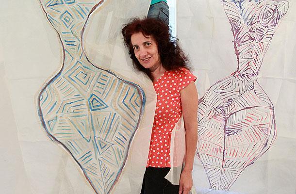 Скулпторът Зиятин Нуриев от Истанбул и художничката Кина Бъговска от