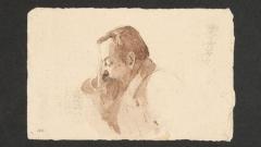 Портрет на Пенчо Славейков - туш върху хартия, 9х14 см