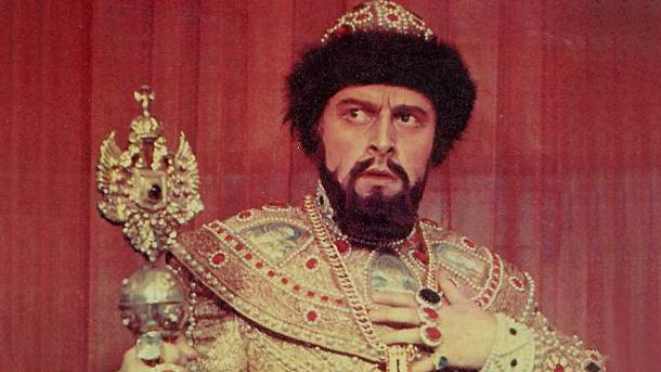 Борис Христов в ролята на Борис Годунов