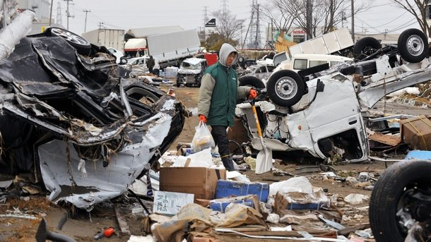 Япония след земетресението през март