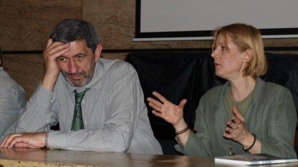 Георги Арнаудов и Мила Искренова на представянето на диска