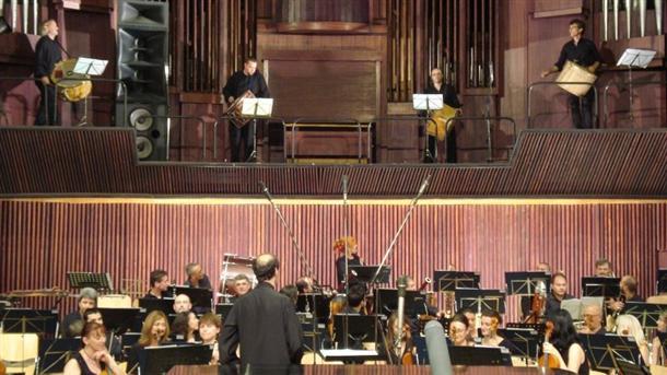 Премиерата на Концерт за 4 тъпана и оркестър от Емил Табаков с Радиооркестъра под палката на автора