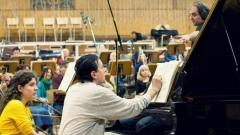 Людмил Ангелов, Найден Тодоров и Радиосимфониците по време на записите в Първо студио