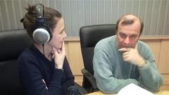 Иван Младенов и Хелия Чавдарова в студиото на