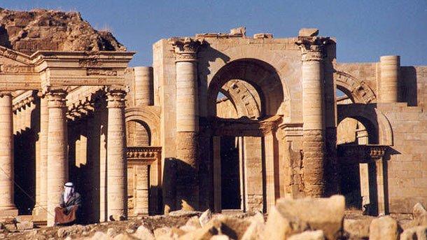 Древният град Хатра в Ирак.
