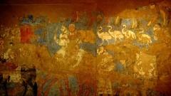 Стенописи от крепостта Самарканд направени през 7 век.