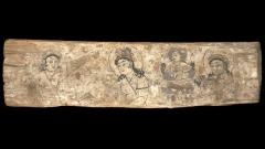 Панел от Dandan-oilik, будистко светилище в Kотан (съхранява се в Британския музей).