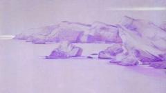 """""""Моите брегове"""" от Дарина Янева, сух пастел (фрагмент)"""