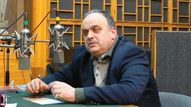 Андрей Дреников във Второ студио на БНР.