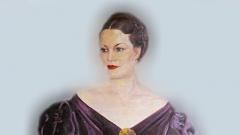 Портрет на Елисавета Багряна от Иван Табаков (фрагмент).