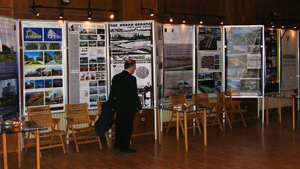 Изложбата в Централния дом на архитектите