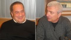 "Слави Бинев (вляво) и Христо Кърджилов в студиото на програма ""Христо Ботев"""