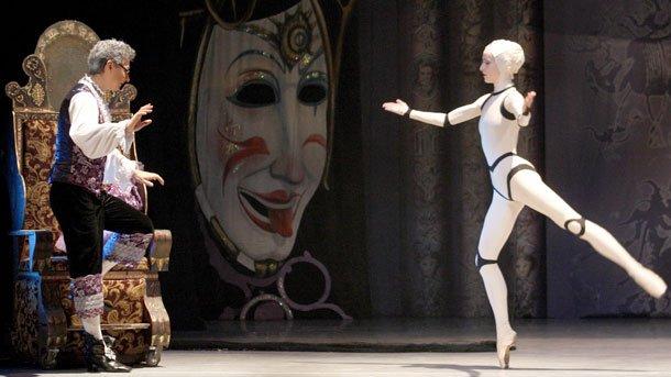 """Сцена от балета """"Копелия"""" (""""Compac театър"""", Мадрид)."""