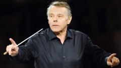 Латвийският диригент Марис Янсонс по време на репетиция за концерта