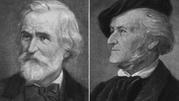 Верди (вляво)и Вагнер