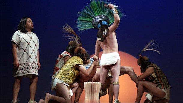 """Сцена от операта """"Монтесума""""."""