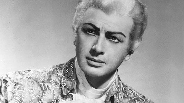 Франко Корели в ролята на Андре Шение в едноименната опера, постановка на Римската опера, 1963 г.
