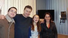 Здравко, Емил, Мина и Албена в студиото на предаването (отляво надясно).
