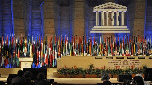 """На 31 октомври ЮНЕСКО прие Палестина за свой пълноправен член със 107 гласа """"за"""", 52 въздържали се и 14 """"против""""."""