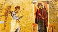 Архангел Гавраил се явява на Дева Мария, за да и съобщи Божията воля, че тя ще зачене и роди дългоочаквания Месия. Тази хубава блага вест дава и наименованието на празника.