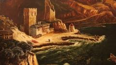 "Gjiri i portit të manastirit ""Zograf"", piktor – Canko Lavrenov"