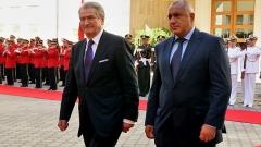 Edhe sot marrëdhëniet mes Bullgarisë dhe Shqipërisë janë të shkëlqyeshme. Moment nga vizita zyrtare e kryeministrit Bojko Borisov në Shqipëri gjatë tetorit të këtij viti.
