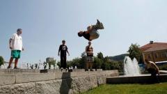 Shumë të rinj bullgarë praktikojnë sportin urban parkur.