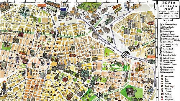 Nova Animirana Karta Na Sofiya Predstavya Unikalnite Za Grada Mesta