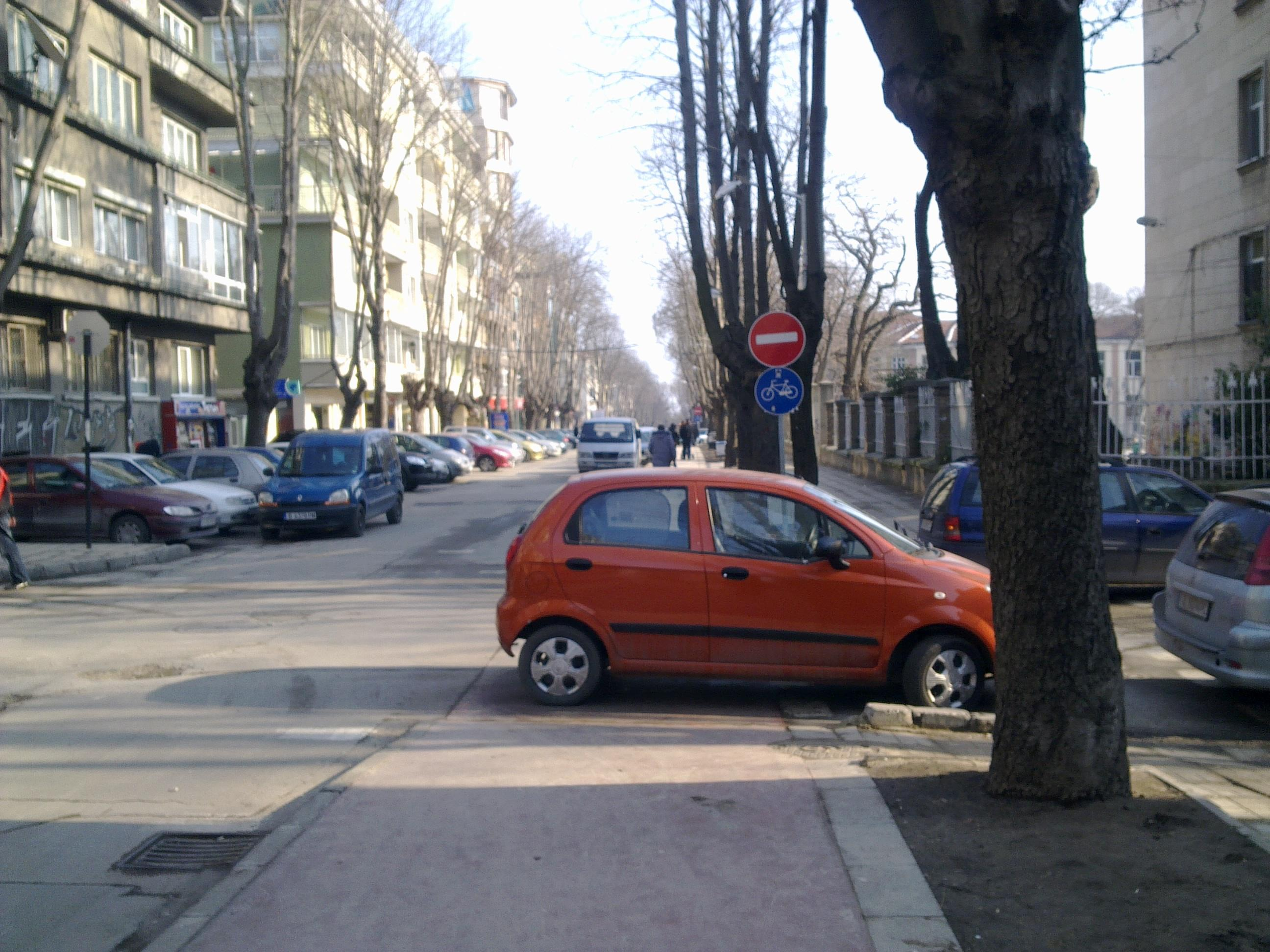 Велоалеята е прекрасно място за паркиране
