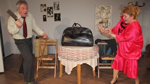 """Сцена от """"Молба до Господ"""" на монтанския театър"""