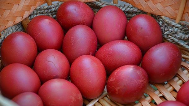 великден перашки боядисани яйца